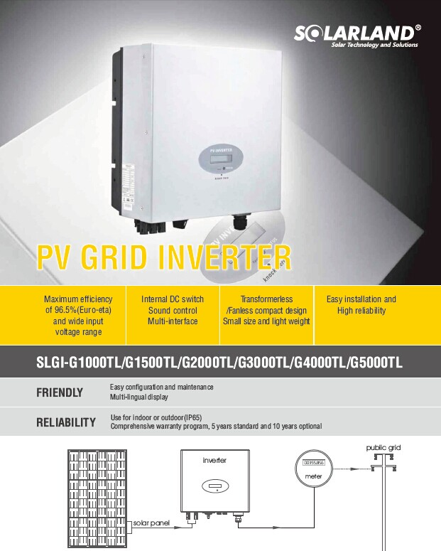 On Grid Inverter System Solar Power 5000w