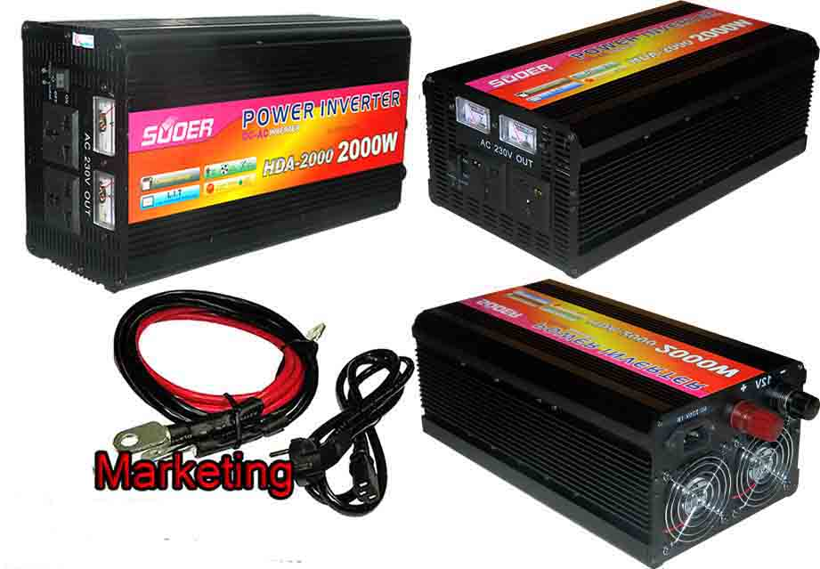 Power Inverter Auto Charger Ups 2000w Suoer 24v Panel