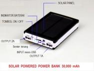 Power Bank Solar Cell / Panel Surya 30.000mAh
