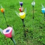 LT 1004 Lampu Taman Tancap Model Tulip 80 cm