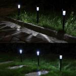 LT 1005_4 Lampu Taman Tancap Hitam Stainless 1 LED  35 cm