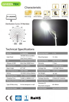 PJU Tenaga Surya All In One 40 Watt | 40w | 40watt