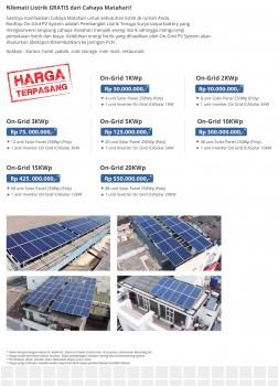 Paket Panel Surya On Grid   On Grid Solar System
