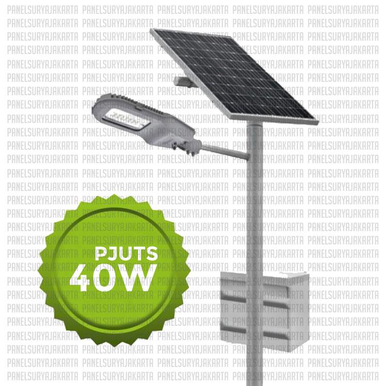 Pju Tenaga Surya 40 Watt Pju Solar Cell 40 Watt Pjuts 40 Watt