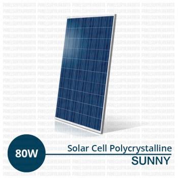 Jual Panel Surya 80 WP Polycrystalline