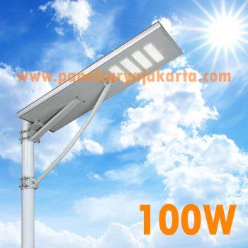 Lampu PJU Solar Cell All In One 100 Watt