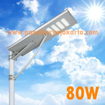 Lampu PJU Solar Cell All In One 80 Watt